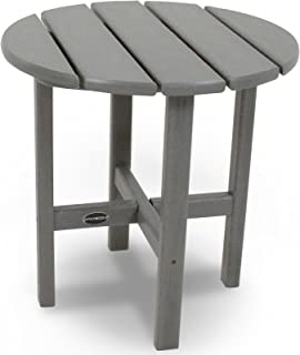 "product image for POLYWOOD RST18GY Round 18"" Side Table, Slate Grey"