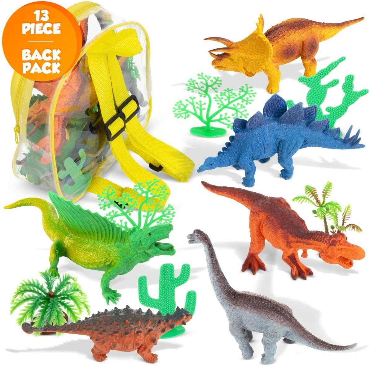 Figures Set with Carrying Bag Realistic Jurassic World Dinosaurs Toys