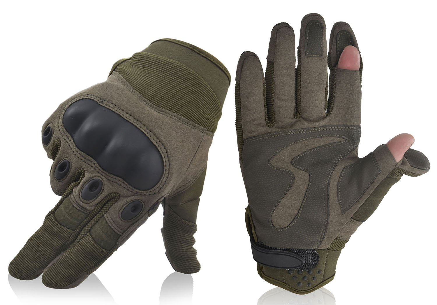 Simplicity Military Gear Non-Slip Cycling Motorcycle Gloves, 7424_Army Green L