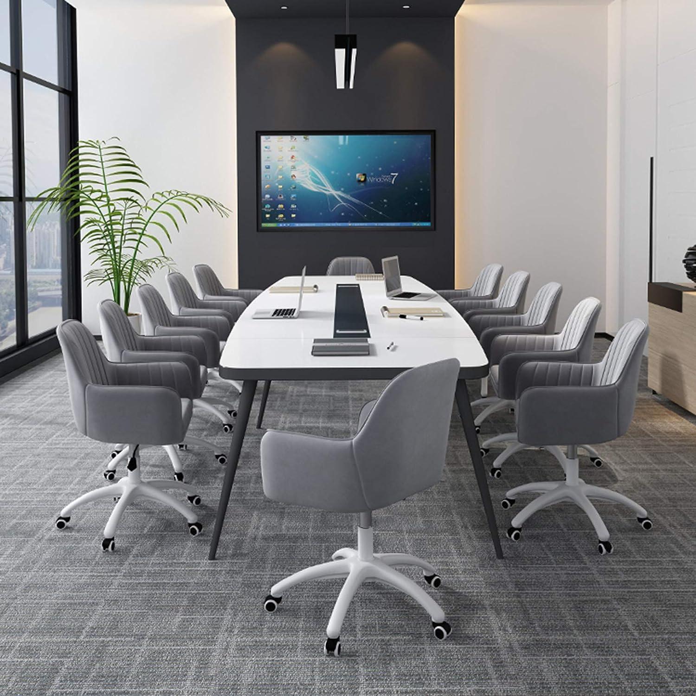 Hem kontorsstol ergonomisk skrivbordsstol med ländrygg stöd armstöd justerbar mellanrygg uppgift stol, korsryggsstöd Grått