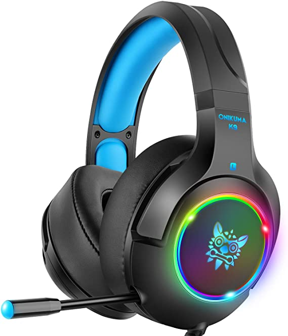 DIZA100 Stereo Gaming Headset PS4 Headset with 7 Colors Breathing LED Light