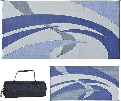 REVERSIBLE MAT 159183 Blue/Grey