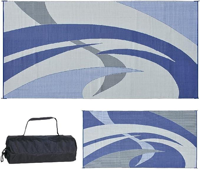 Reversible Mats 159183 Blue/Grey RV Patio Mat