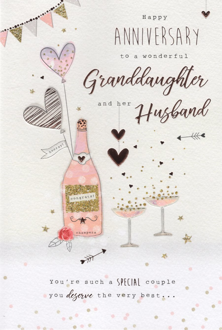 Happy Anniversary To A Wonderful Granddaughter And Her Husband