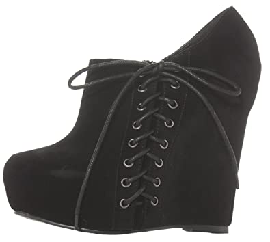 9c7705945b52 Ladies Wedge Shoes Womens Lace Up Wedges High Platform Ankle Boots Size 3 4  5 6 7 8  Amazon.co.uk  Shoes   Bags
