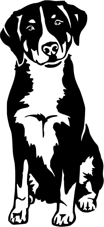 amberdog Appenzeller Sennenhund Autoaufkleber Fensterfolie Art.Nr.AT0142 Aufkleber f/ür Auto Wohnmobil Wohnwagen Autoaufkleber 20x15cm, schwarz