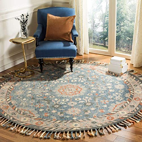 Safavieh Aspen Collection APN123A Handmade Braided Tassel Wool Area Rug