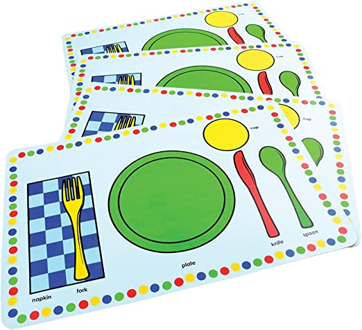 Amazon Com Marvel Education Co Labeled Meal Mats 12 X 18 Inches Set Of 4 Home Kitchen,Girls Bedroom 2 Kids Bedroom Ideas For Small Rooms