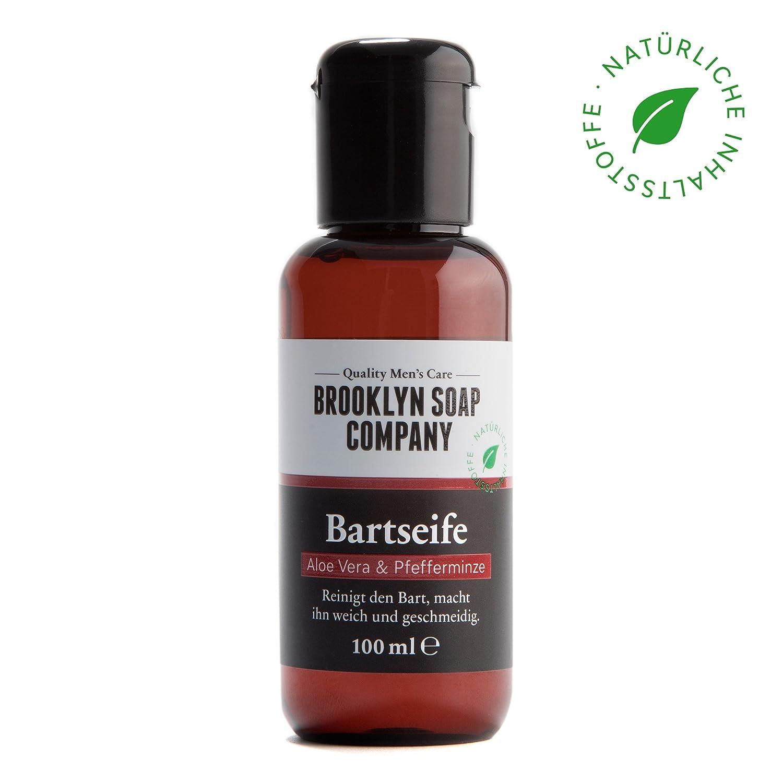 shampoing et savon à barbe: Beard Wash 100 ml ✔ nettoyage et entretien barbe ✔ cosmétiques naturels de la BROOKLYN SOAP COMPANY ®✔ l'entretien naturel pour l'homme moderne, aussi comme idée cadeau