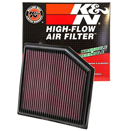 K&N engine air filter, washable and reusable: 2015-2019 Chevy/GMC Colorado  and Canyon 33-5030