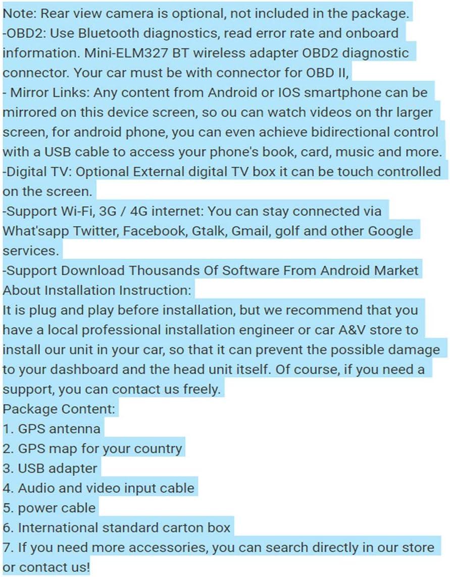 KJHGYU Pantalla Vertical Android 8.1 estéreo del Coche Reproductor ...