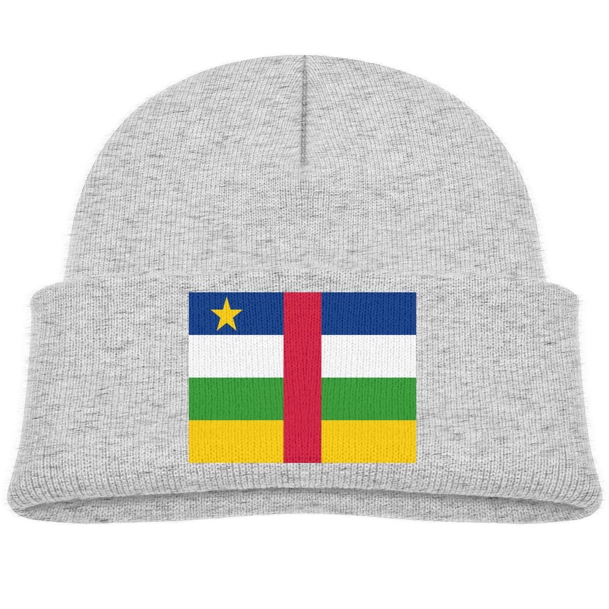 Amazon.com  Kids Funny Central African Flag Beanie Hats Warm Adjustable  Caps for Boys and Girls  Clothing 8688b9f6c81