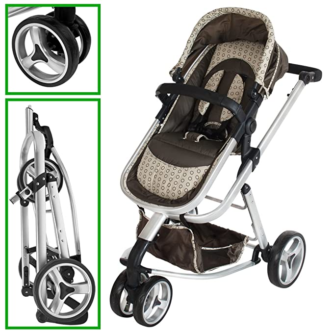 TecTake 3 en 1 Sillas de paseo coches carritos para bebes convertible - disponible en diferentes colores - (Marrón | no. 401070): Amazon.es: Hogar
