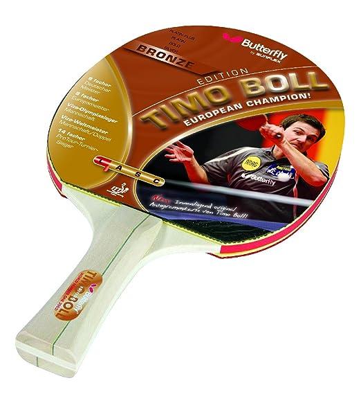 7 opinioni per Butterfly- Racchette da ping pong TIMO BOLL, colore: Bronzo