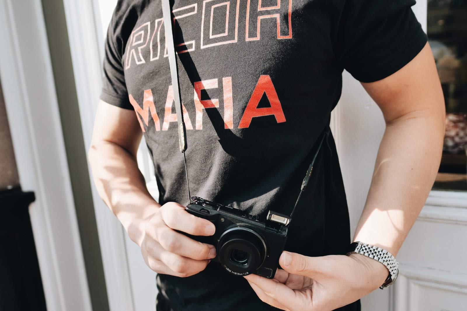 ERIC KIM NECK STRAP - Handmade Premium Leather Camera Strap, Fits Ricoh GR