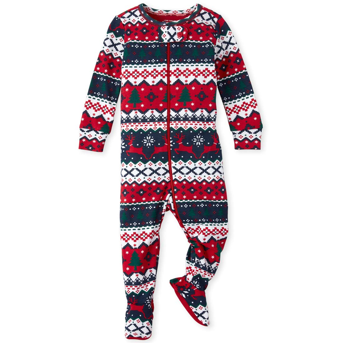 The Childrens Place Baby Boys Christmas Stretchie