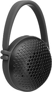AmazonBasics Portable Wireless Nano Mini Bathroom Bluetooth Speaker, Splash-Proof, for Indoor or Outdoor Use, Black