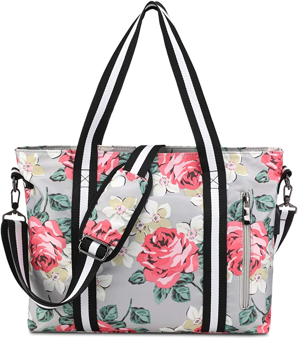 "Laptop Tote Bag for Women 17.3"" RFID Work Handbag Duffel Girls Travel Fits Notebook, MacBook"