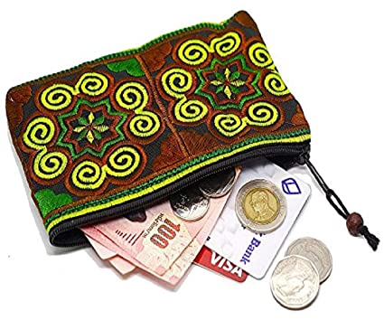 Amazon.com: YIHU - Monedero hecho a mano – Pequeño bordado ...