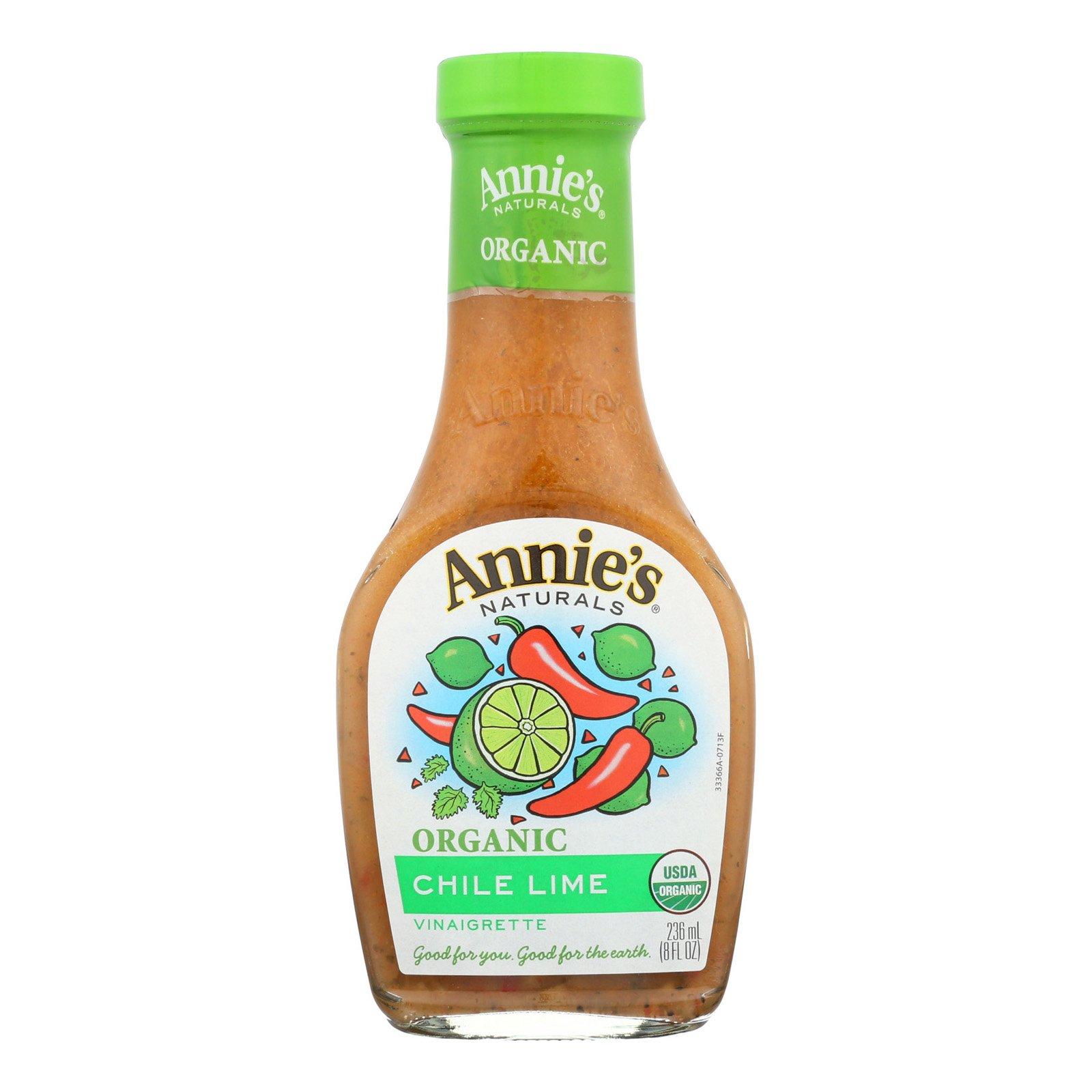 Annie's Naturals Vinaigrette Organic Chile Lime - Case of 6-8 fl oz.
