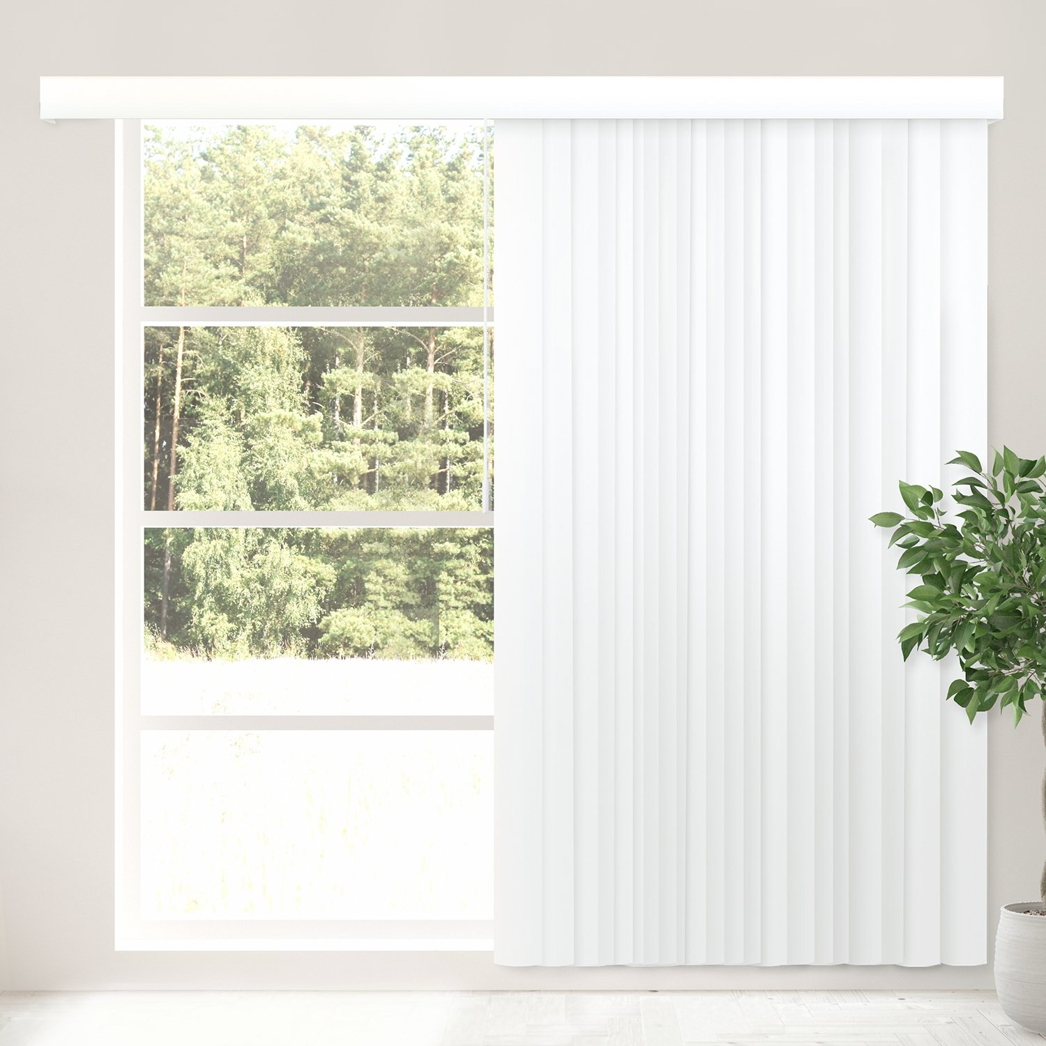 CHICOLOGY Cordless Vertical Blinds Patio Door or Large Window Shade 78\  W X 84\  H Oxford White (PVC)  sc 1 st  Amazon.com & Amazon.com: CHICOLOGY Cordless Vertical Blinds Patio Door or Large ...