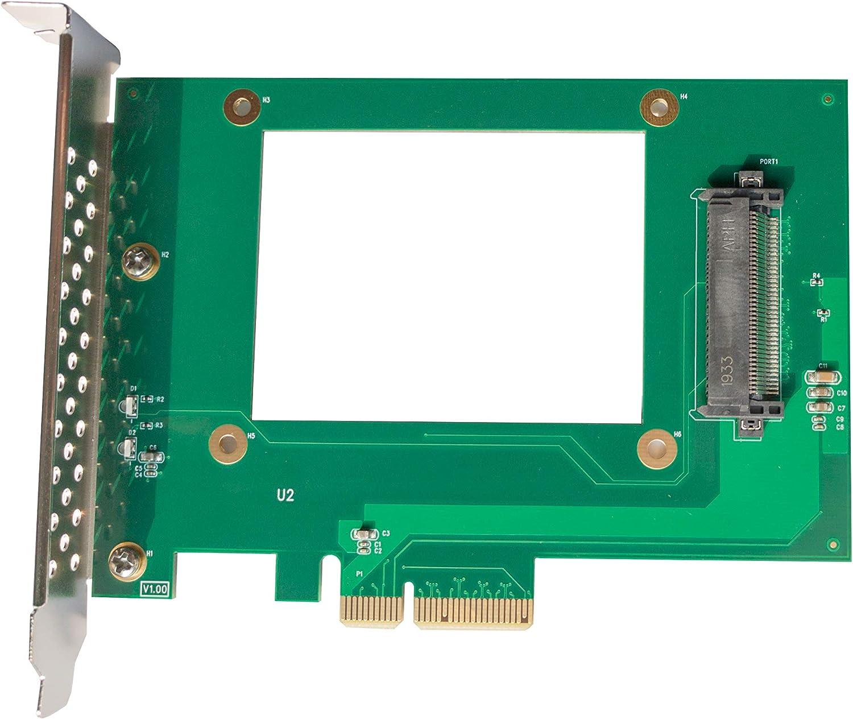 "Dilinker U.2 to PCIe Adapter - x4 PCIe - for 2.5"" U.2 NVMe SSD - SFF-8639 PCIe Adapter - U.2 SSD - PCIe SSD - U.2 Drive(PEX4SFF8639)"