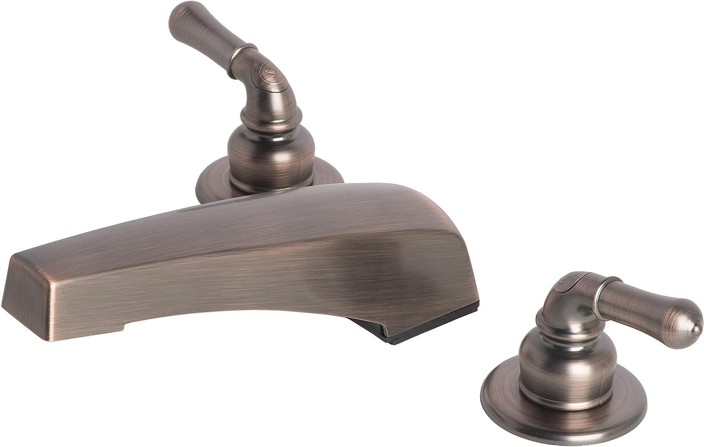 Laguna Brass 3340BZ Mobile Home Two Handle Non-Metallic Adjustable Garden Tub Filler Faucet, Brushed Bronze Finish