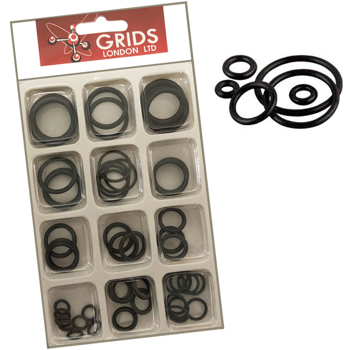 Assorted Size Pack of O Rings Plumbing DIY Air Seal Rubber Tap Sink ...