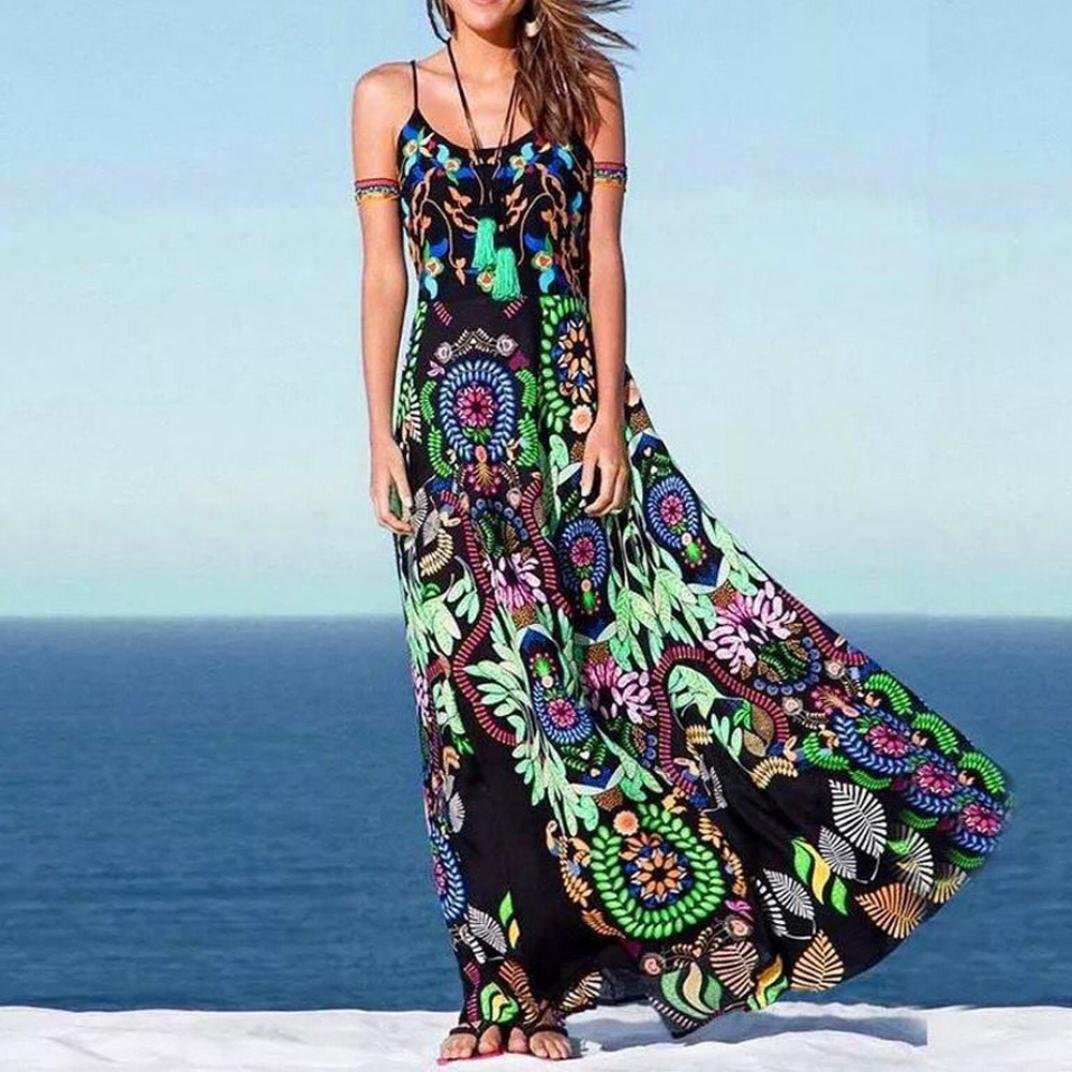 867c0692a2 Women Holiday Swimwear Cover Up Chiffon Summer Beach Off Shoulder Maxi Dress  by Limsea at Amazon Women s Clothing store