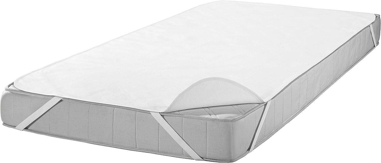 White SETEX Molleton Mattress Protector 100/% Cotton White 50 x 90 cm Querauflage