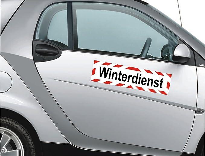 Magnetfolie f/ür Auto//LKW//Truck//Baustelle//Firma INDIGOS UG Magnetschild DRK im Einsatz 30 x 8 cm reflektierend