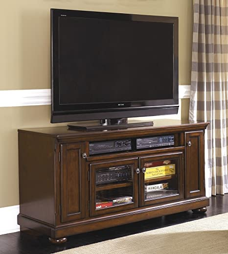 Amazon Com Millennium Porter Rustic Brown Wood Large Tv Stand By
