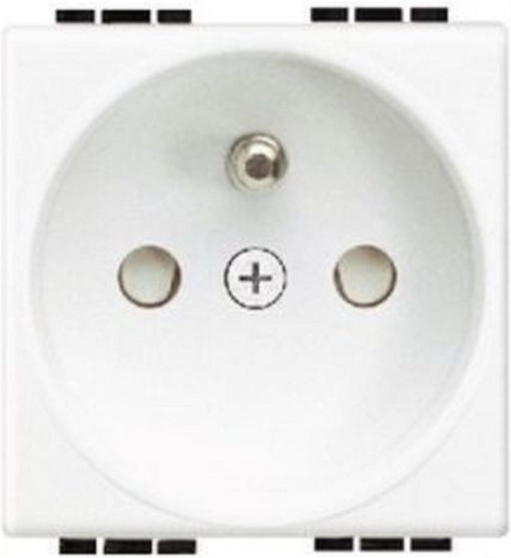 prise de courant 2p+t 16a auto bticino living light blanc