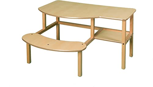 Childs Wooden Computer Desk for 1 – 2 Kids, Ages 5 – 10 – Maple