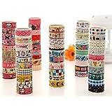 Kanggest 20Pcs Cinta Colorida de la Historieta Cinta Adhesiva Modelada Decorativa para las Artesanías de DIY Album