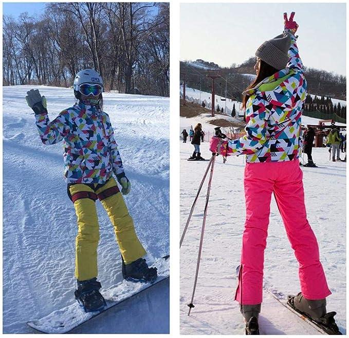 G-lucky Camuflaje Traje De Esqui Mujer ,Impermeable Cortaviento Y C/álido Conjuntos De Chaqueta Y Pantalon