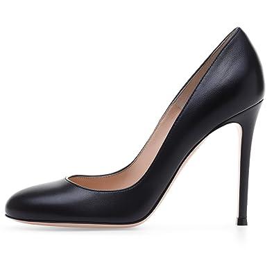 elashe- Scarpe col Tacco Donna - 10cm - Punta Rotondo - Tacchi Alti con  Chiuse Davanti Donna  Amazon.it  Scarpe e borse a46302e138b