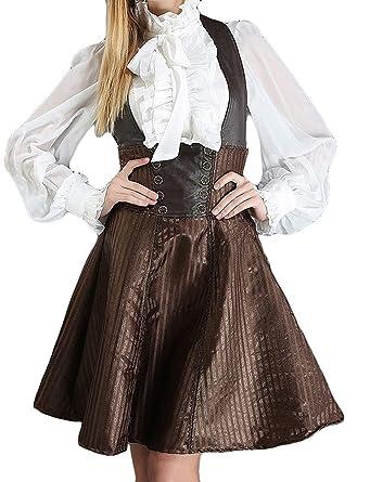 Falda invernaderos tamaño con peto y tirantes, de steampunk ...