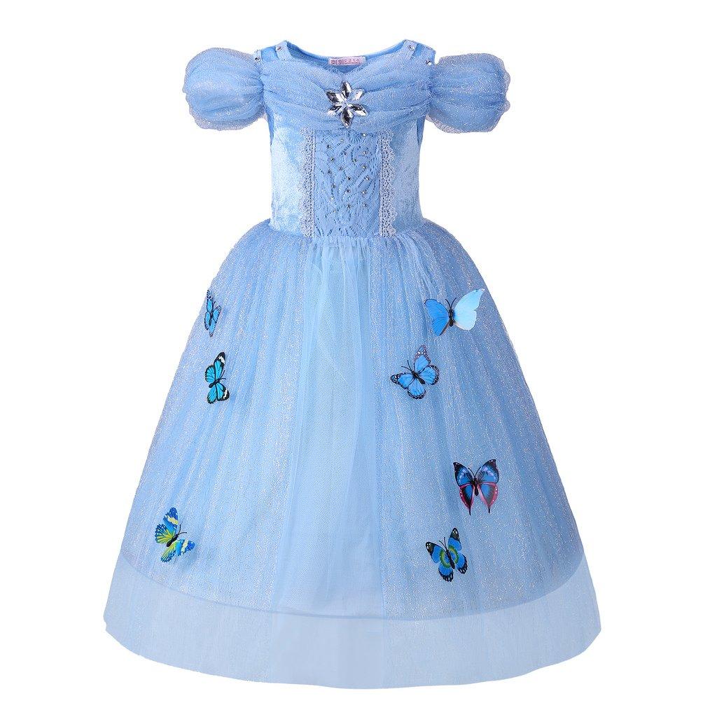 Pettigirl Girls Costume Printing Halloween Princess Fancy Dress with Haircomb 3-11Y GD40819-2-CA