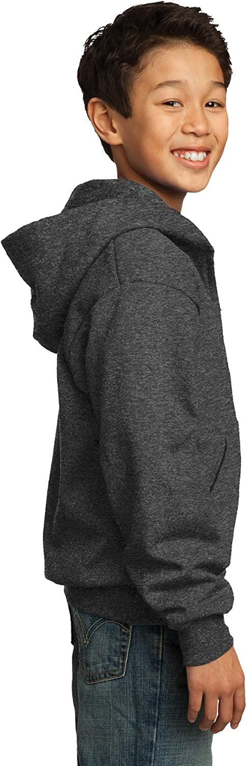 Port /& Company PC90YZH Youth Core Fleece Full-Zip Hooded Sweatshirt