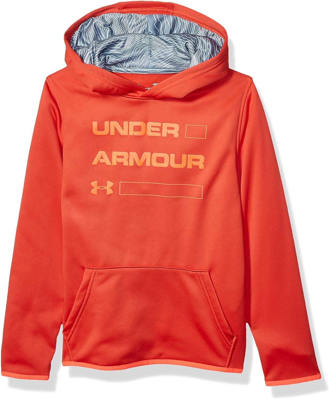 Under Armour boys Armour Fleece Wordmark Hoodie