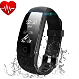 Fitness Tracker SUGELE ID107 Plus HR Heart Rate Monitor ,Run me Activity Tracker Smart Watch with Sleep Monitor for iOS/Android