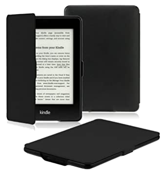 83327fa78 OMOTON Kindle Paperwhite Case Cover - The Thinnest Lightest PU Leather  Smart Cover Kindle Paperwhite fits