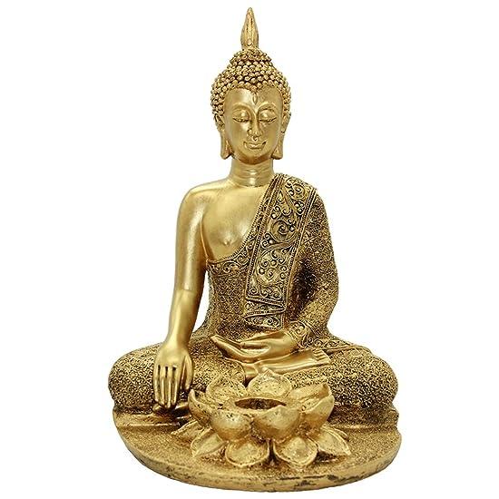 Golden Resin Buddha Statue Home Furnishing Decoration BS116