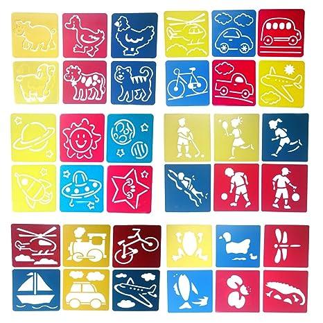 Mike Home di 6 colori assortiti disegno stencil pittura modelli per ...