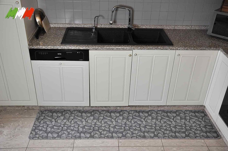 1 CASA TESSILE Silver Tappeto Cucina Largo 50 cm - VAR 100 cm.