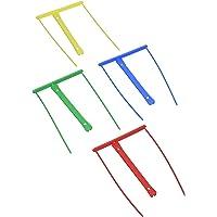 Fast 100725520 Relieurs universels en plastique semi-rigide 10 cm Rouge/Bleu/Vert/Jaune,  Lot de 12