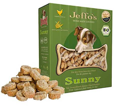 Jeffo Sunny Bio hundekekse - glutenfrei para Perros ...