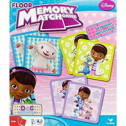 amazon com doc mcstuffins floor memory match game toys games