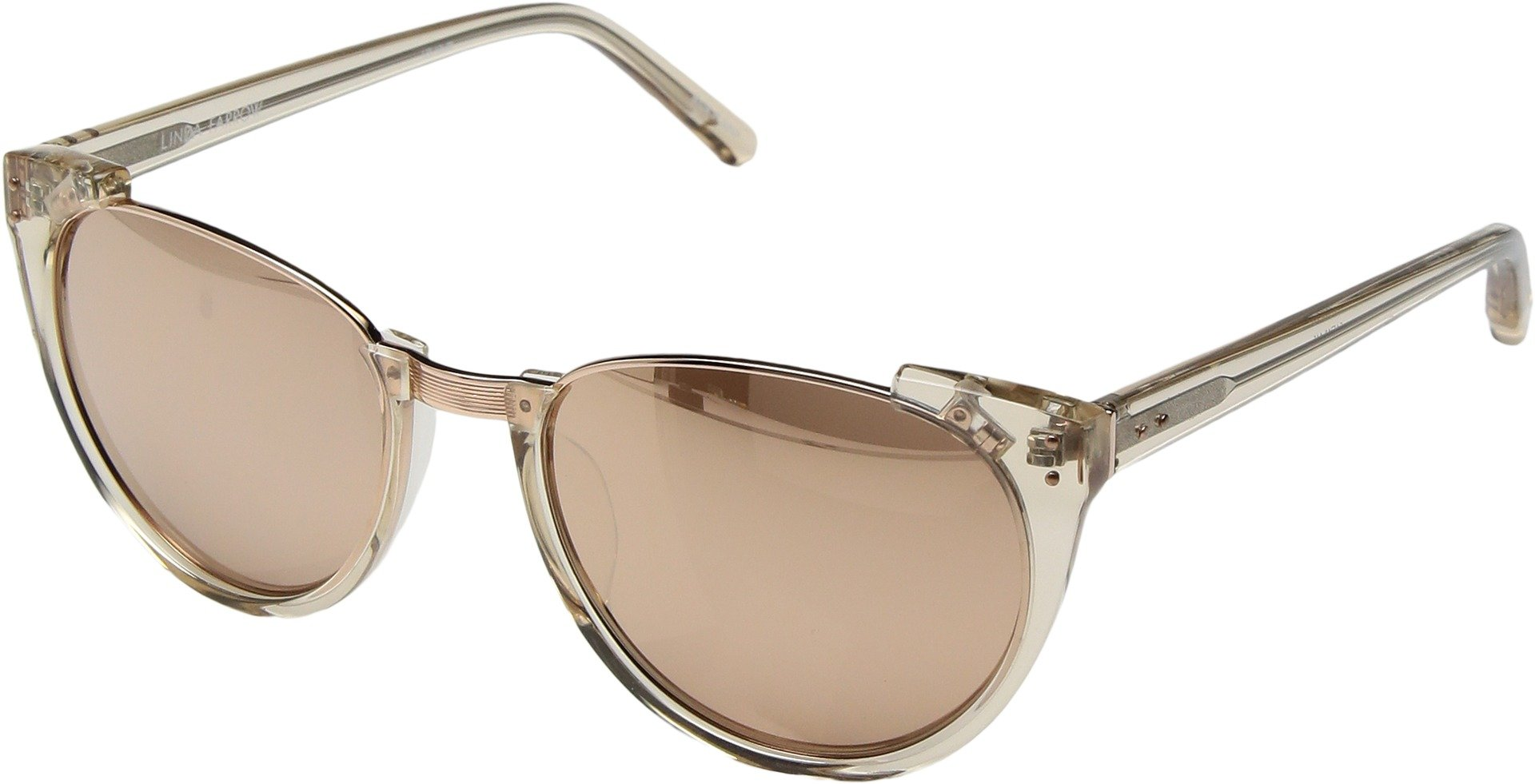 Linda Farrow Luxe Women's LFL136C30SUN Rose Gold Sunglasses Ash/Rose Gold/Rose Gold One Size